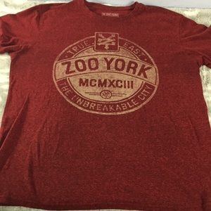 Zoo York red heathered graphic T-shirt size large